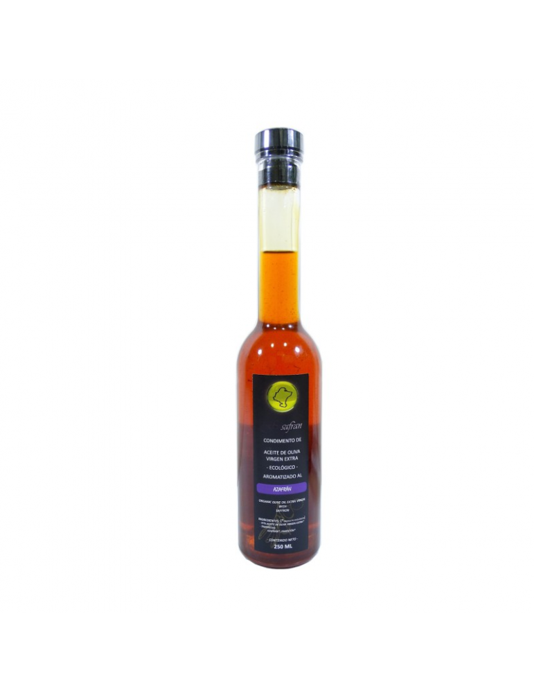 Organic Extra Virgin Olive Oil Infused With Organic Spanish Saffron